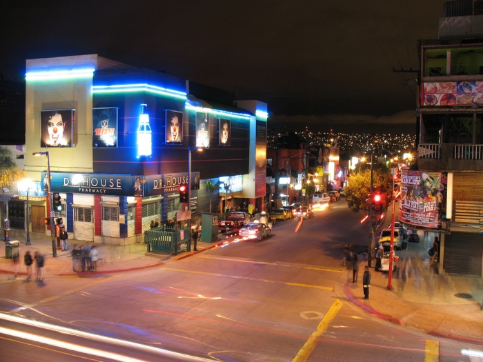 Popular Sexta Street in Downtown TJ.
