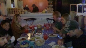 Eating at La Corriente (potato quality pic)